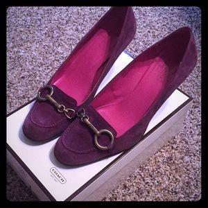 Like new Coach purple heels